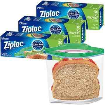 Ziploc Brand Bags - Sandwich X-Large- Case of 12/30ct