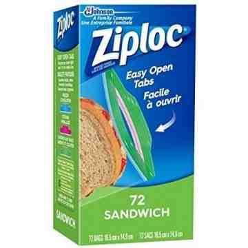 Ziploc Brand Bags - Sandwich - Case of 12/72ct