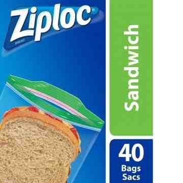 Ziploc Brand Bags - Sandwich - Case of 12/40ct - 2