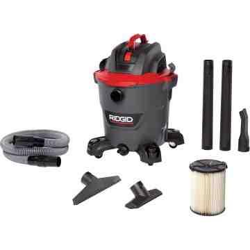 RIDGID NXT Industrial Vacuum, Wet-Dry, 5 HP, 12 US Gal.(45 Litres) 144 CFM Cord Length: 15' - 1