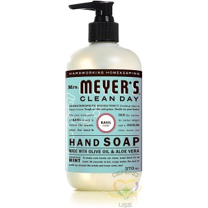 Mrs.Meyers Clean Day, Hand Soap,  Basil, Case of 6/370ml - 1