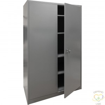"Storage Cabinet, Steel, 4 Shelves, 78"" H x 48"" W x 24"" D, Grey - 3"