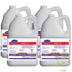 Virox Concentrated Surface Cleaner and Disinfectant, 4 per Box, 3.78 L