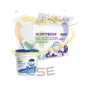 Kimtech Prep™ Wipes for the WetTask™ Wiping Bucket System, 6 Rolls (60ct), 1 Bucket