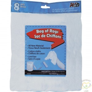 WIPECO Wiping Cloths, Cotton, White, 1 lbs. Material: Cotton Colour: White Weight: 1 lbs. - 1