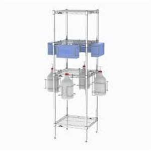 METROPOLITAN WIRE, PPE Sanitizing Tree with Shelves