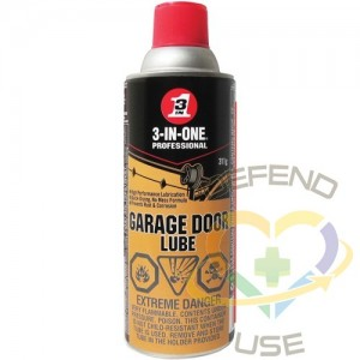 WD-40, 3-IN-1 Garage Door Lube, Aerosol Can, 311 g, Film Type: Dry
