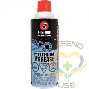 WD-40, 3-IN-1 White Lithium Grease, Format: 290 g