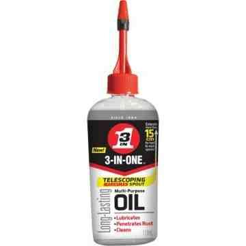 WD-40, 3-IN-1 Multi-Purpose Oil, Bottle, 118 ml, Film Type: Wet
