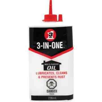 WD-40, 3-IN-ONE Multi-Purpose Oil, Squeeze Bottle, 236 ml, Format: 236 ml