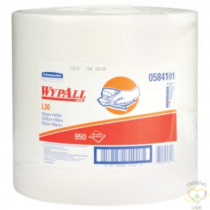 """KIMBERLY-CLARK  L30 Wipers, Utility, 12-2/5"""" L x 13-1/3"""" W Colour: White  Sheets: 950 Units/Case: 1 - 1"""