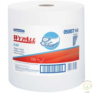 """KIMBERLY-CLARK  L40 Wipers, All-Purpose, 12"""" L x 13-2/5"""" W Colour: White - 1"""