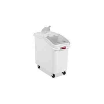 Ingredient Bin w/32oz Scoop Cap 3.5cu -White[360288WHT]