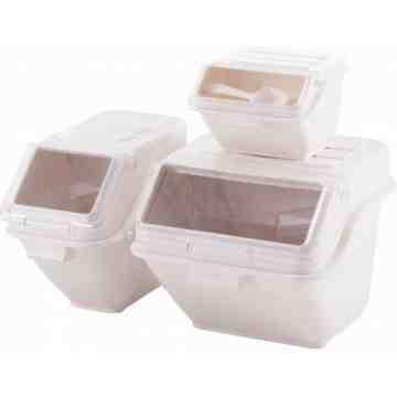 Shelf Ingredient Bin 47L - White/Clear - 1