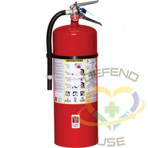 Steel Dry Chemical ABC Fire Extinguishers,Class: ABC,Type: Dry Chemical, Capacity: 20 lbs.,Range: 10' - 15'