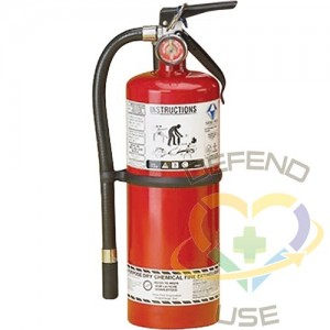 Steel Dry Chemical ABC Fire Extinguishers,Class: ABC,Type: Dry Chemical, Capacity: 5 lbs.,Range: 8' - 10'