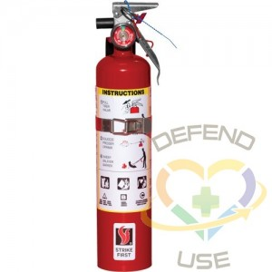 Steel Dry Chemical ABC Fire Extinguishers,Class: ABC,Type: Dry Chemical, Capacity: 2.5 lbs.,Range: 8' - 10'