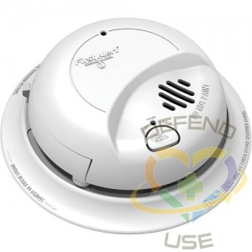 BRK ELECTRONICS, 120V Hardwired Smoke Alarm with Battery Back-Up