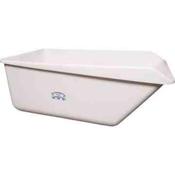 "REMCO PRODUCTS, Angled Dump Tub, Colour: White, Dimensions (L x W x H): 54.6"" x 32"" x 21.7"""