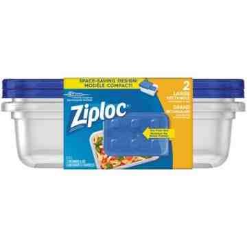 SC JOHNSON PROFESSIONAL, Ziploc Rectangular Food Containers, Colour: Clear, Capacity: 2.12 L