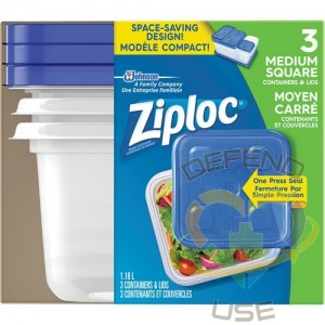 SC JOHNSON PROFESSIONAL, Ziploc Square Food Containers, Colour: Clear, Capacity: 1.8 L