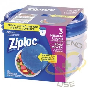 SC JOHNSON PROFESSIONAL, Ziploc Round Food Containers, Colour: Clear, Capacity: 828 ml