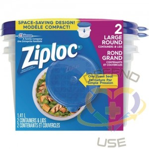 SC JOHNSON PROFESSIONAL, Ziploc Round Food Containers, Colour: Clear, Capacity: 1.41 L