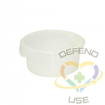 Round Storage Container 2qt - White