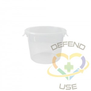 Round Storage Container 6qt - Clear