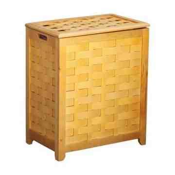 Oceanstar Natural Finished Rectangular Veneer Laundry Wood