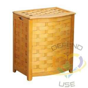 Oceanstar Natural Finished Bowed Front Veneer Laundry Wood