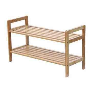 Oceanstar 2 Tier Bamboo Shoe Rack