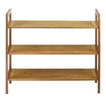 Oceanstar 3-Tier Bamboo Shoe Rack, Natural