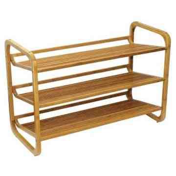 Oceanstar SR1231 3 Tier Bamboo Shoe Rack