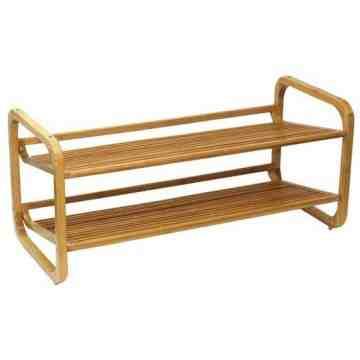 Oceanstar SR1224 2 Tier Bamboo Shoe Rack
