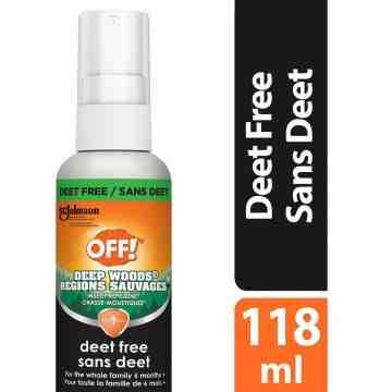 Insect OFF! Deep Woods Repellent 9-Deet Free, Case of 10/118ml - 1