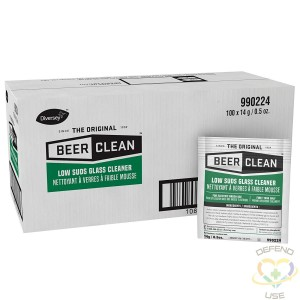 Beer Clean Low Suds Glass Cleaner (0.5-Ounce, 100-Pack) - 1