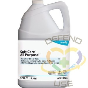 Soft Care All Purpose Hand, Hair & Body Wash, Case of 4x3.78L - 1