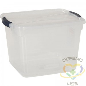 United Solutions Cleverstore Clear Latching Storage Tote w/Lid 30 Quart 16-7/8 x 13-3/8 x 11-1/2 - Pkg Qty 8 - 1