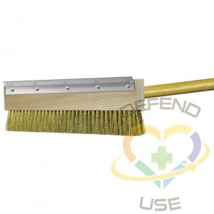 """11"""" HD Brass Pizza Oven Brush w/40"""" Handle Included"""