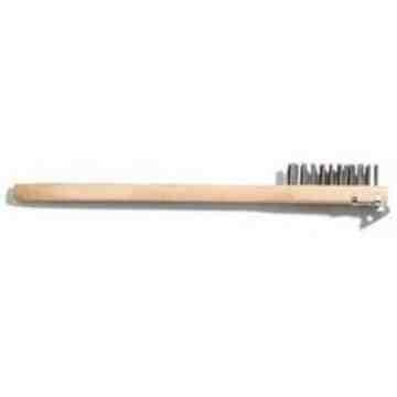 "20"" HD Long-Hdl BBQ Brush w/Scraper - Steel Wire - 1"