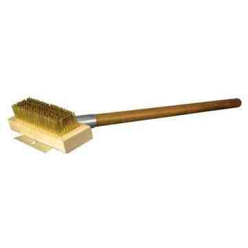 """27"""" Ulitmate Oven/Grill Brush - HD Scraper Brass Wire"""
