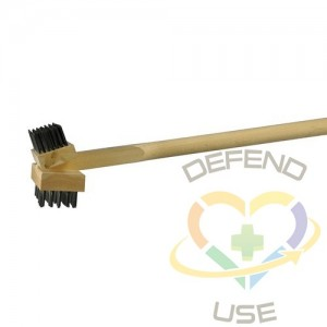 """30""""2-Side Angle Grill Brush w/Flat/Round Wire"""