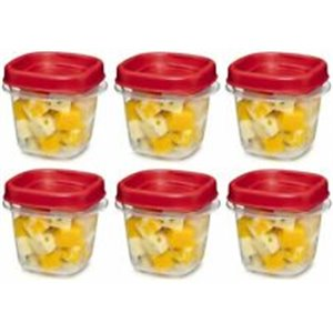 Rubbermaid Housewares, 2 cup 473mL Square Lock-its, Case of 8