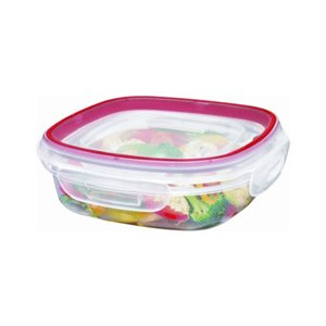 Rubbermaid Housewares, 3 cup 710mL Square Lock-its, Case of 6