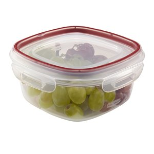 Rubbermaid Housewares, 5 cup 1.2L Square Lock-its, Case of 6