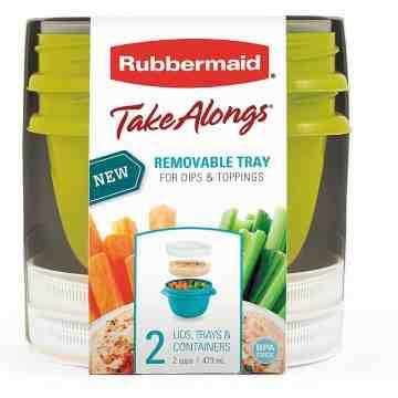 Rubbermaid Housewares, 2PK TNS 2 C 4CS SNACK TO GO - ASTDA, Case of 4