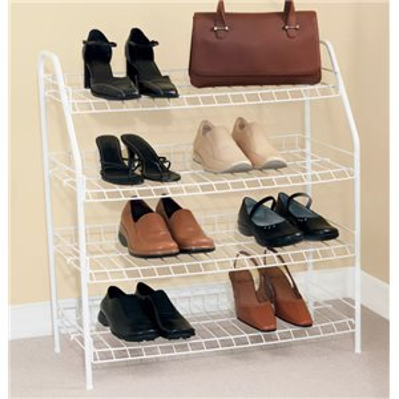 Rubbermaid Housewares, 4 Tier Shoe Shelf, Case of 6