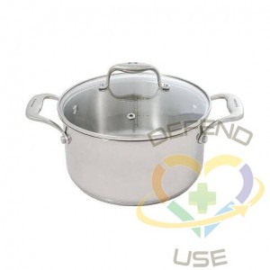 Concentrix 3-Quart Stainless Steel Casserole with Lid, Case of 6