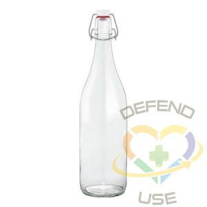 1L French Glass Swing Top Bottle W/ Airtight Hinged Stopper, 9